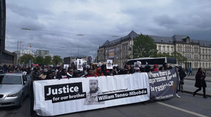 ALD 2019: Demonstration #JUSTICEFORMBOBDA [EN/FR/ES]