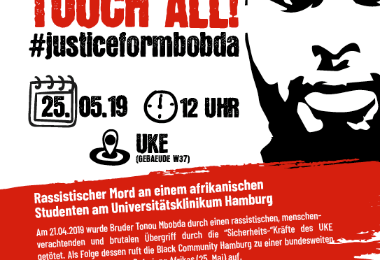 DEMONSTRATION: Africa Liberation Day /#JusticeForMbobda 25.05.2019 – 12h @ UKE-Hamburg